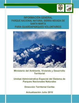 INFORMACIÓN GENERAL - Parques Nacionales de Colombia