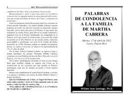 palabras de condolencia a la familia de martha cabrera