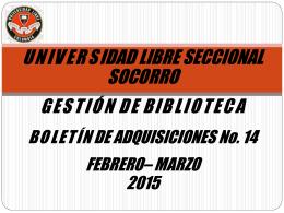 Febrero-marzo2015 - Universidad Libre