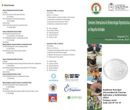 Seminario Internacional de Biotecnologías Reproductivas en