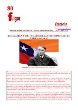 Fulgor 80 - Inicio - Partido Comunista de Chile