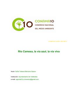 Doc. Escrito - CONAMA 10 - Congreso Nacional de Medio Ambiente