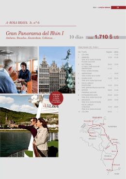 A-ROSA BRAVA: It. nº 6 Gran Panorama del Rhin I