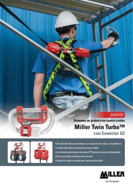 Sistemas de protección contra caídas Miller Twin Turbo™ con