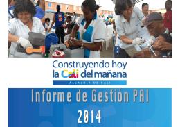 horizontal PRESENTACIÓN INFORME DE GESTIÓN PAI 2014