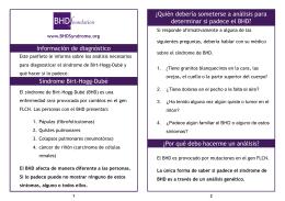 Síndrome Birt-Hogg-Dubé Información de diagnóstico ¿Quién