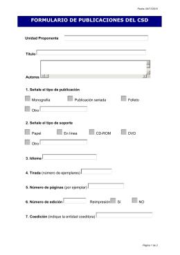 Formulario de publicaciones para el Programa Editorial