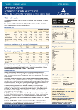 Aberdeen Global - Emerging Markets Equity Fund
