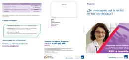 folleto - Seguro de Gastos Médicos | AXA