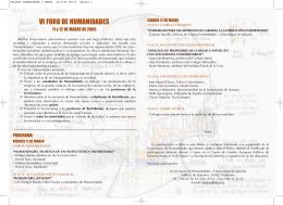 VI FORO DE HUMANIDADES - Universidad de Navarra