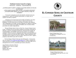 el consejo senil en chatham county