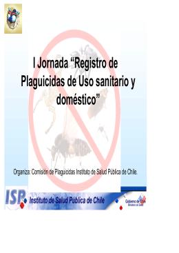 Plaguicidas - Instituto de Salud Pública de Chile