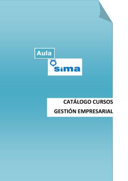 CATÁLOGO CURSOS GESTIÓN EMPRESARIAL Aula
