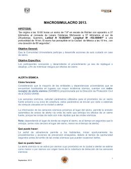 SIMULACRO DEL DIA 20 (VIERNES) DE ABRIL DE 2012