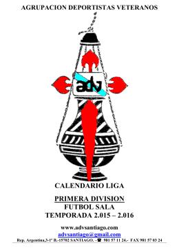 calendario primera division 15-16