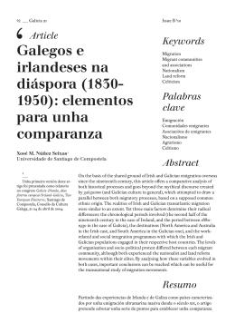 Galegos e irlandeses na diáspora (1830