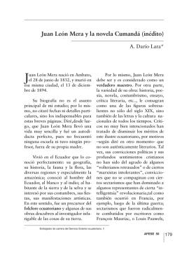 Juan León Mera y la novela Cumandá (inédito)