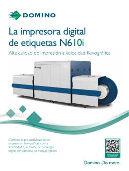 La impresora digital de etiquetas N610i