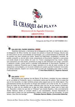 EL CHASQUI ASEPTIEMBRE 2011