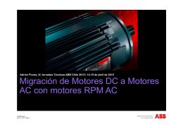 Migración de Motores DC a Motores AC con motores RPM AC
