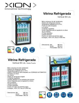 vitrinas XI-H80 y XI-H85DP