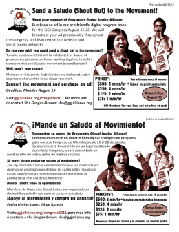GGJ saludo flyer - Grassroots Global Justice Alliance