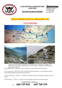TLF. 660 159 836 y 649 760 339 - Club Deportivo Bridgestone