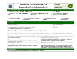 PLANEACIÓN Y SECUENCIA DIDÁCTICA Colegio de Bachilleres