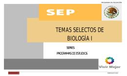 Temas Selectos de Biología I