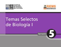 Temas Selectos de Biologia I