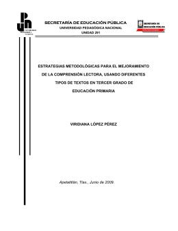 secretaría de educación pública estrategias metodológicas para el