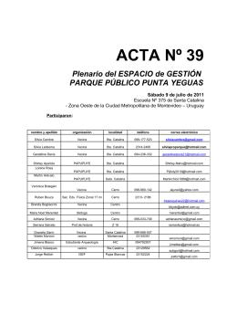 ACTA Nº 39