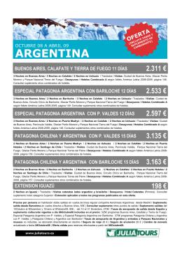 ARGENTINA - JuliaTours
