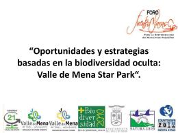 """""""Oportunidades y estrategias basadas en la biodiversidad oculta"""