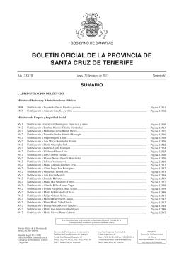 Boletín 067/2013, de fecha 20/5/2013