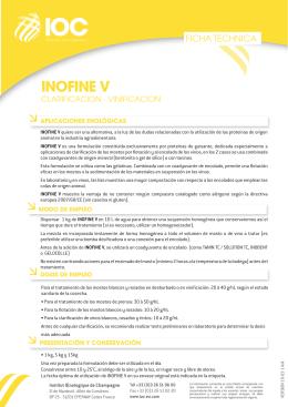 FT INOFINE V (ES) - Institut Oenologique de Champagne