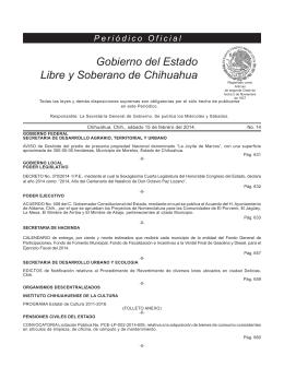Gobierno del Estado Libre y Soberano de Chihuahua