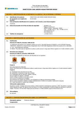 Ficha de datos de seguridad for Beneficios del insecticida casa jardin