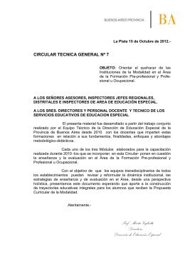 Circular Técnica General Nº7 de 2012