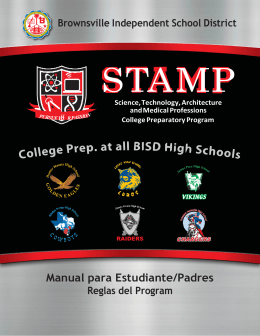 Manual para Estudiante/Padres - Brownsville Independent School