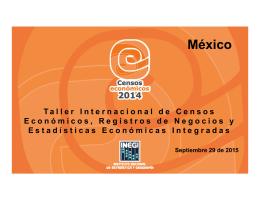 """""""Los resultados del Censo Económico Mexicano"""" (INEGI, México)"""