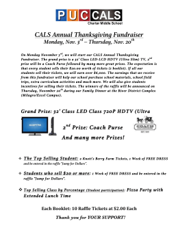 CALS Annual Thanksgiving Fundraiser Monday, Nov. 3