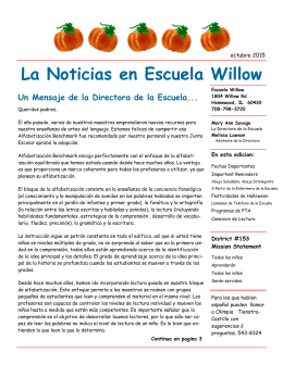 La Noticias en Escuela Willow - Homewood School District 153
