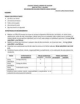 NOMBRE: TEMAS CON DIFICULTADES: ESTRATEGIAS DE