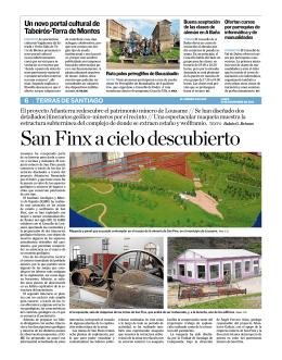 San Finx a cielo descubierto - Instituto Geológico y Minero de España