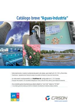 "Catálogo breve ""Aguas-Industria"""