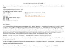 Notas de Clarificación adicionales para el ECERS-R Estas