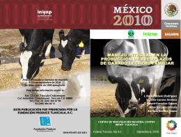 manejo integral en la producción de reemplazos de ganado lechero