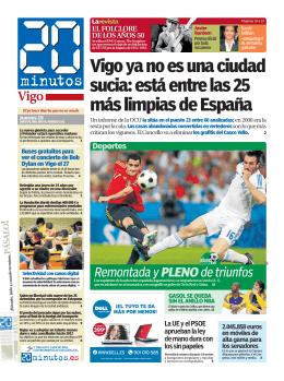 Vigo ya no es una ciudad sucia: está entre las 25 más