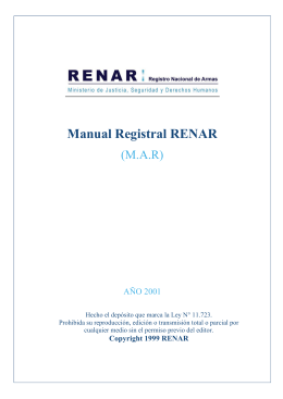 Manual Registral RENAR - Asociación de Industriales y